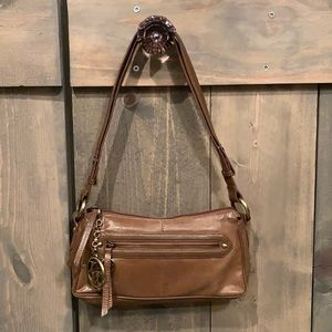 Maxx New York brown leather shoulder bag